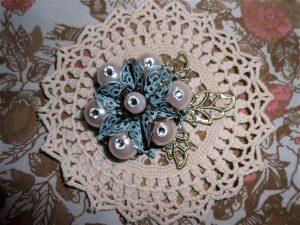 metal filigree flower embellishment for butterbeescraps