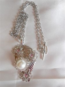 silver leaf necklace for butterbeescraps