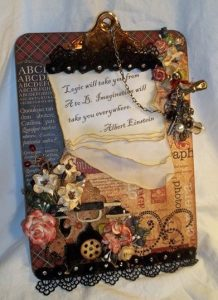 g45 altered clipboard by butterbeescraps