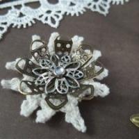 metal filigree flower embellishments by butterbeescraps