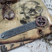 steampunk tag by butterbeescraps