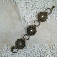 antique bronze drawer pull bracelet by butterbeescraps