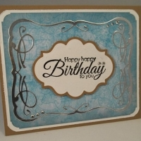 happy birthday card by butterbeescraps