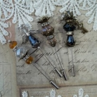 stick pins scrapbooking embellishments by butterbeescraps