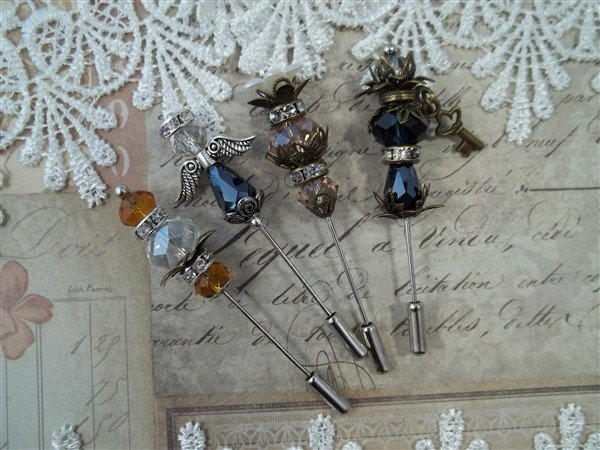 stick pins scrapbooking embellishments by butterbeescraps