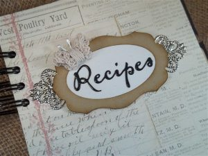 shabby chic recipe book by butterbeescraps