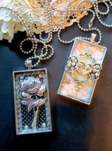 bezel necklaces for butterbeescraps