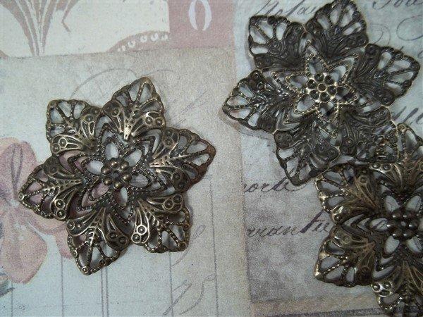 bronze metal filigree embellishments