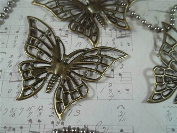 bronze metal filigree metal embellishments by butterbeescraps