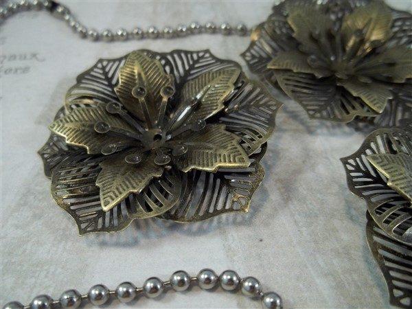 bronze metal filigree embellishments by butterbeescraps