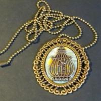 cameo bird cage necklace for butterbeescraps