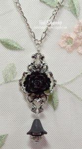 black rose necklace pendant for butterbeescraps