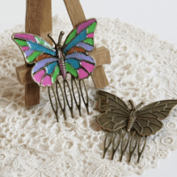 butterfly hair clips for butterbeescraps