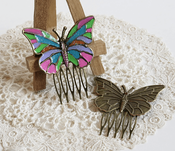 butterfly hair clips for butterbeescraps