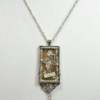 bezel necklace for butterbeescraps