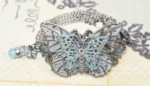 butterfly filigree necklace by heidi blankenship