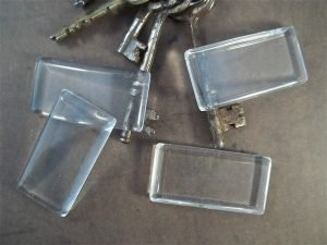rectangular glass cabochons by butterbeescraps