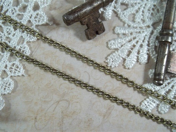 bronze curb chain by butterbeescraps