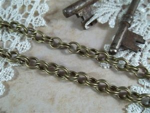 double cable chain by butterbeescraps