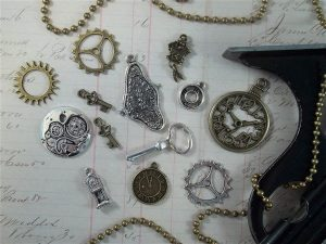 clock tibetan charms by butterbeescraps