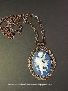 copper cameo necklace for butterbeescraps
