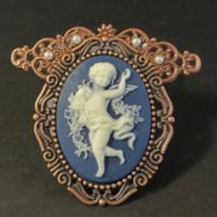 copper cameo brooch for butterbeescraps