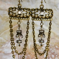 crystal chandelier earrings for butterbeescraps