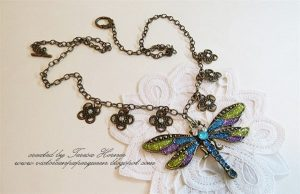 dragonfly necklace for butterbeescraps