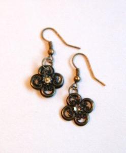 bronze filigree earrings for butterbeescraps