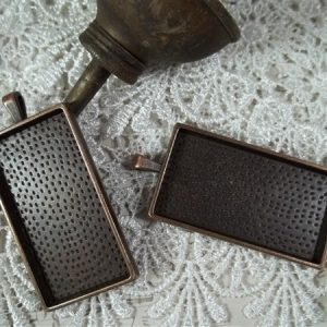 copper rectangular bezel frames by butterbeescraps