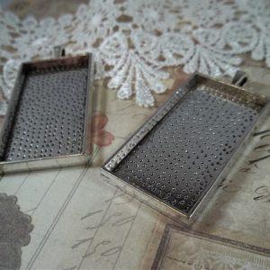 silver rectangular bezel frames by butterbeescraps