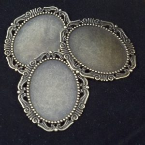 bronze oval cameo frames by butterbeescraps