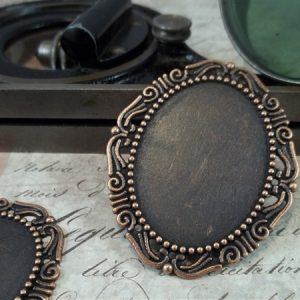 copper cameo frames by butterbeescraps