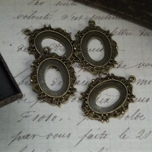 bronze cameo frames by butterbeescraps