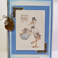 baby boy blue card butterbeescraps