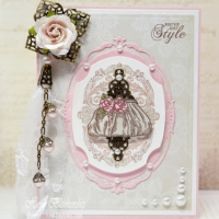 handmade card ideas vintage fashion