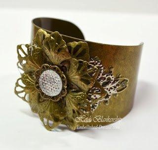 flower bracelet by heidi blankenship