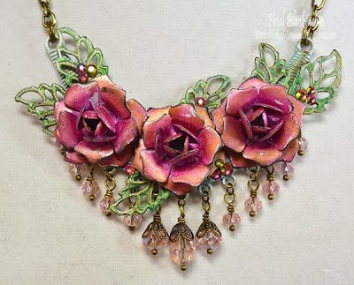 magenta rose necklace for butterbeescraps