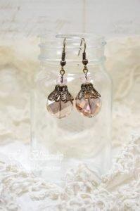 golden pink sparkle earrings for butterbeescraps
