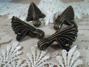 antique bronze box feet by butterbeescraps