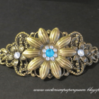 bronze filigree hair clip for butterbeescraps