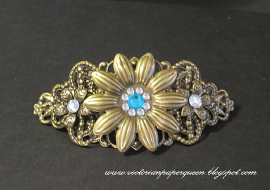bronze filigree hair clip for butterbeescraps