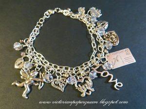 heart charm bracelet for butterbeescraps