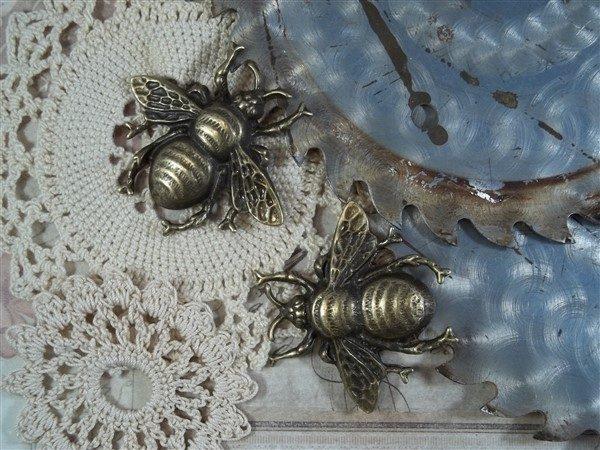 bronze bee tibetan charms by butterbeescraps