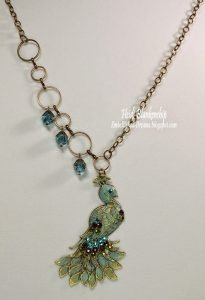 jeweled peacock necklace for butterbeescraps