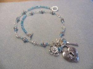 blue locket necklace for butterbeescraps