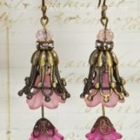 pink double tulip earrings for butterbeescraps