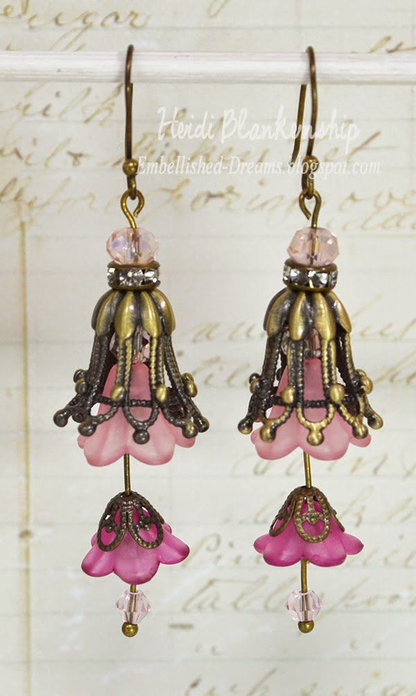 pink double tulip earrings for butterbeescraps