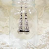 silver drop earrings for butterbeescraps