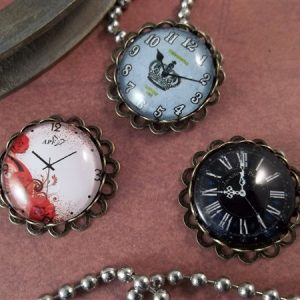 small glass clock cabochons